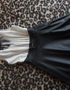 biało czarna sukienka ala skórka