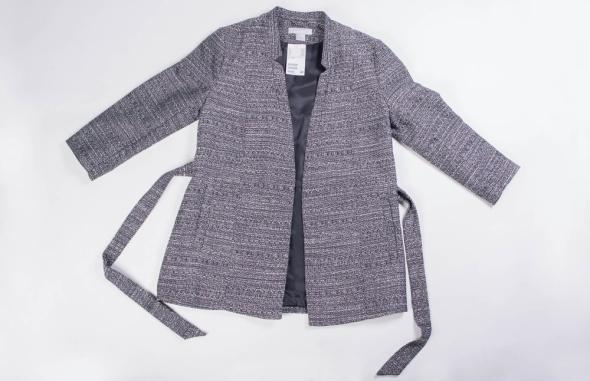Wiosenny szary płaszczyk H&M rozmiar 38