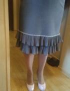 Spódnica szara z falbanami rozmiar 42