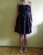 Sukienka czarna w gwiazdki rozmiar 40 UK12