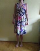 Sukienka kolorowa rozmiar 38 UK10