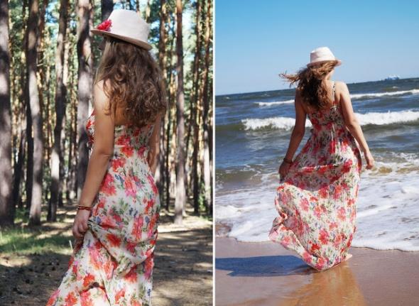 Suknie i sukienki Sukienka maxy w kwiaty
