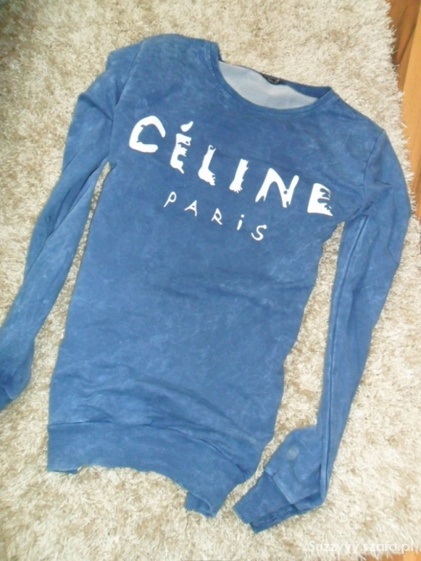 marmurkowa bluza Celine Paris