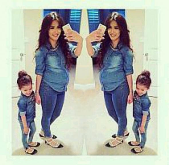 Codzienne modna mama i corka