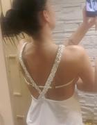 Sukienka dekolt plecy plecionka S