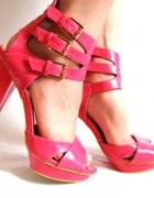 nowe różowe platformy damskie 39 Evie
