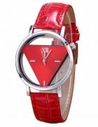 Zegarek damski trójkąt czerwony...