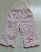 różowe sztruksowe spodnie...