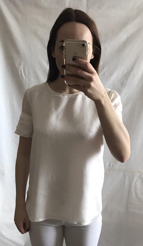 Bluzki Satynowa bluzka na podszewce L 40