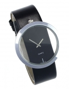 Zegarek damski modny czarny pasek