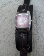 Fossil Oryginalny zegarek z UK skóra i róż...
