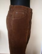 Welur Spodnie welurowe 42 kolor mlecznej czekolady
