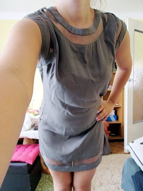 Sukienka luźna przeźroczysty tiul...