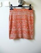 Pomarańczowo szara spódnica