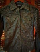 Seksowna czarna koszula top secret we wzorki...