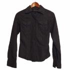 Seksowna czarna koszula top secret we wzorki