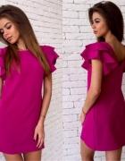 Różowa sukienka L