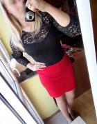 Czerwona bandażowa spódnica