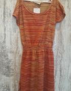 Zara dzianinowa sukienka casual jesienna M 38...