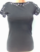Bluzka Koszulka Czarna