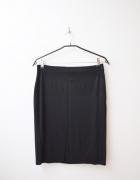 czarna ołówkowa spódnica midi elastyczna 38 40