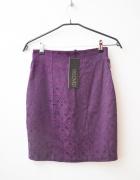 fioletowa spódnica nowa ołówkowa zip suwak 34