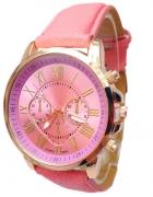 Stylowy Blado Różowy Zegarek Damski Geneva