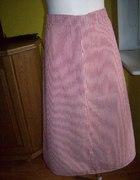 Czerwono biała spódnica w paski L XL...