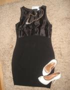 Klasyczna czarna NOWA sukienka 38