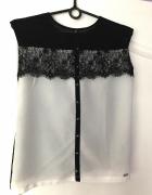 Bluzka Mohito XS S elegancka koronka biała H&M ZAR...