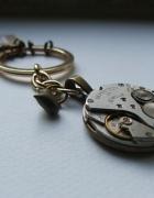 brelok na klucze steampunk zegar rubiny mechanizm...