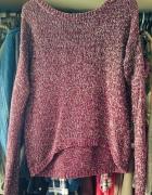 Bordowy sweterek zip...