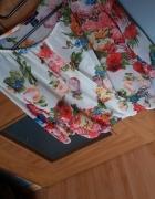 koszula transparentna w kwiaty z rozcięciem na gum