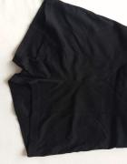 krótkie czarne spodenki materiałowe wysoki stan
