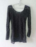 Idealna czarna bluzka koronkowa xs...