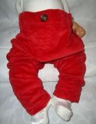 Czerwone spodnie sztruksowe roz 9 12 msc...