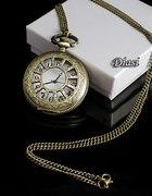 Zegarek na łańcuszku naszyjnik VINTAGE prezent