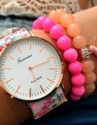 Zegarek damski kwiaty elegancki