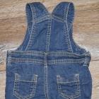 Krótkie spodenki ogrodniczki jeansowe 62 niemowlę