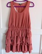 sukienka limited z falbankami