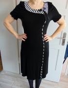 polska sukienka czarno biała