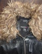 Ekoskóra ramoneska czarna kurtka pilotka XS...