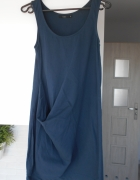 COS sukienka tunika asymetryczna granatowa oversiz