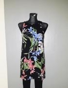 Dunnes sukienka 36 S trapezowa kwiaty rozcięcia...