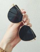 Okulary cat eye czarne