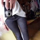Modelujące spodnie rurki dopasowane