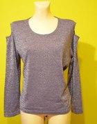 Seksowna fioletowa imprezowa bluzeczka XXL