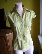 Żółta bluzka z bufiasty krótkim rękawkiem 38