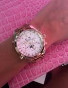 Rolex chronographe złoty logowany plynacy mechaniz