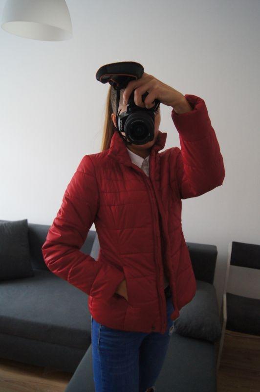 Odzież wierzchnia Pikowana kurtka Top Secret czerwona idealna M